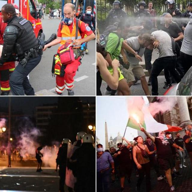 Neredi u Parizu, Ateni i Rimu