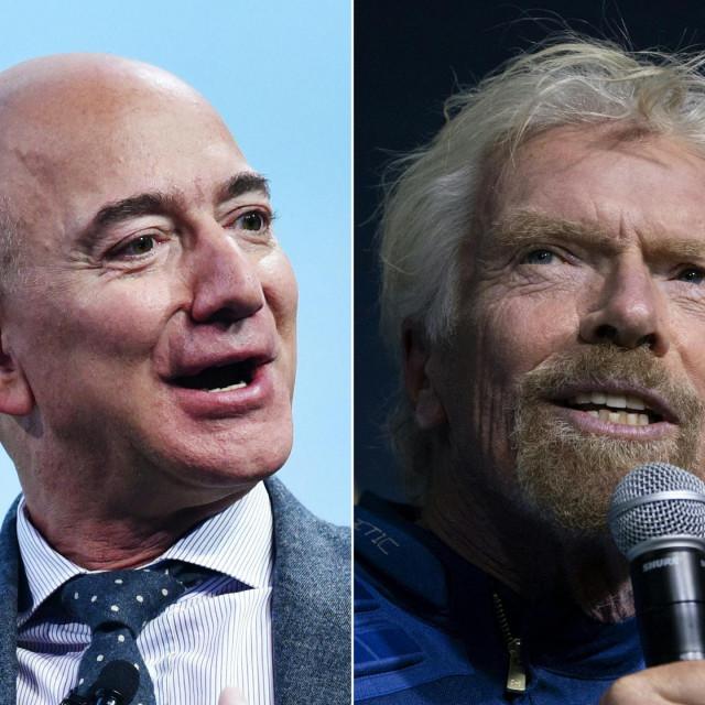 Jeff Bezos i Richard Branson