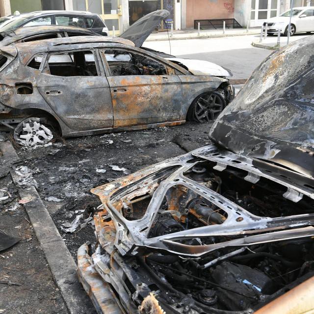 Požar automobila u Maksimiru