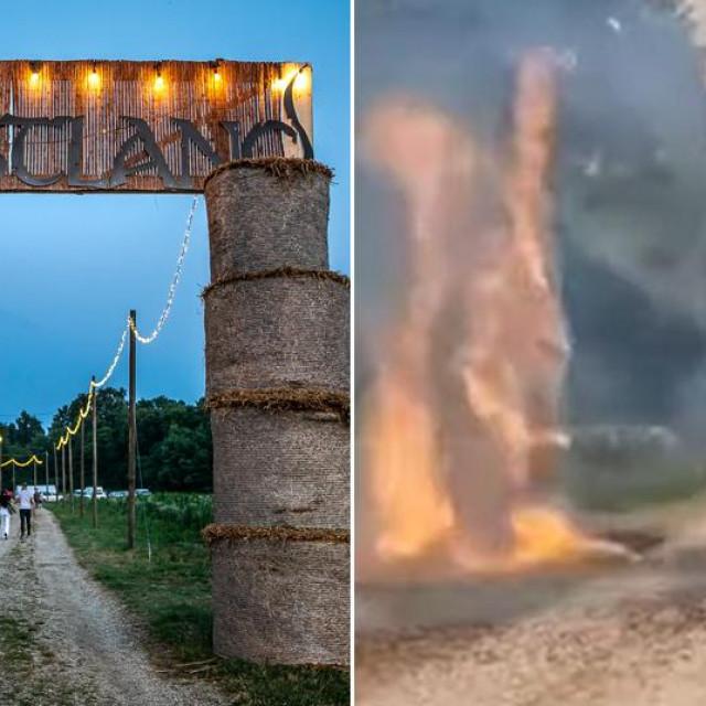 Požar na ulazu u Forestland