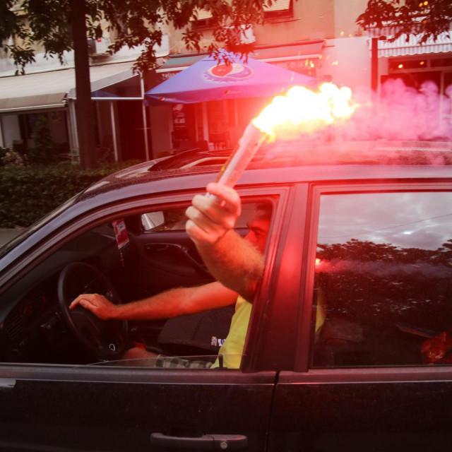 Slavlje na ulicama Knina nakon sto je Matea Jelic osvojila zlatnu medalju na OI