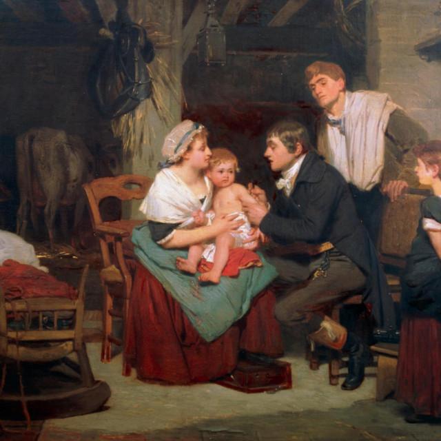 Ilustracija, cijepljenje protiv boginja u 19. stoljeću