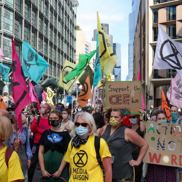 Prosvjed protiv korporacija, London 2020.