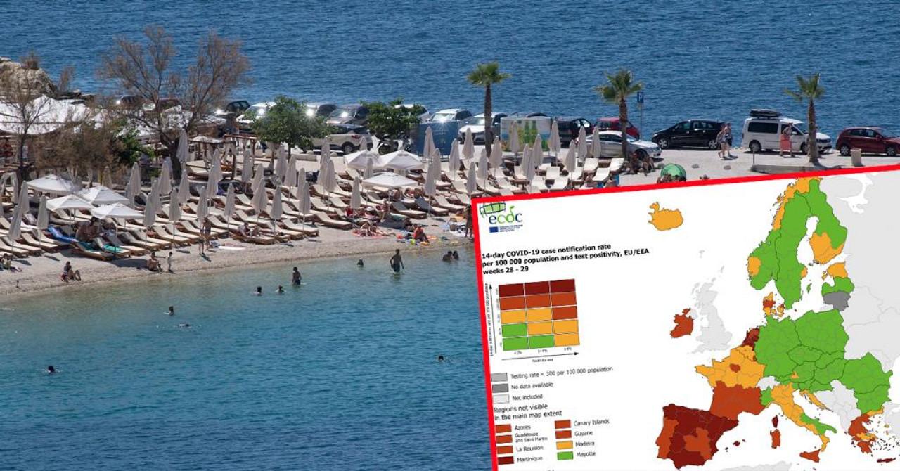 Nova korona karta Europe: Hrvatska obala u narančastom, naši konkurenti u problemima!