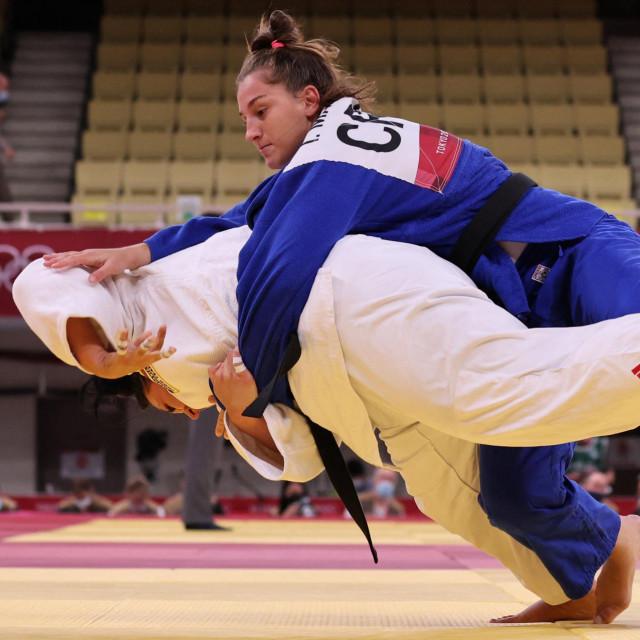 Ivana Maranić (plavi kimono) vs Sandra Jablonskyte