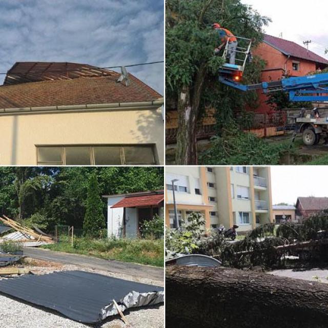 Posljedice nevremena u Petrinji i Čepinu