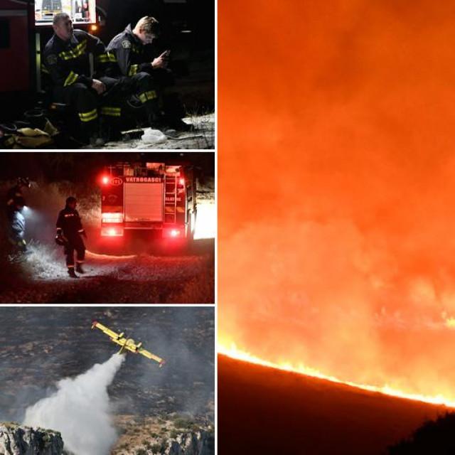 Veliki požar kod Trogira