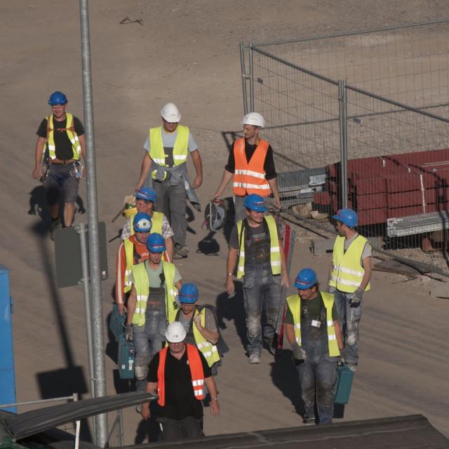 Radovi na izgradnji zgrade Europske centralne banke u Frankfurtu