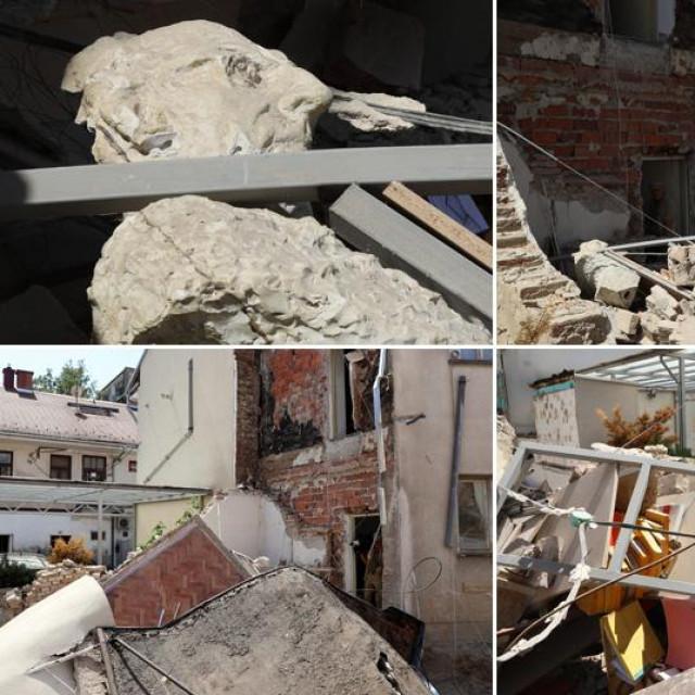 Razrušeni atelje i akademski kipar Ivan Kujundžić