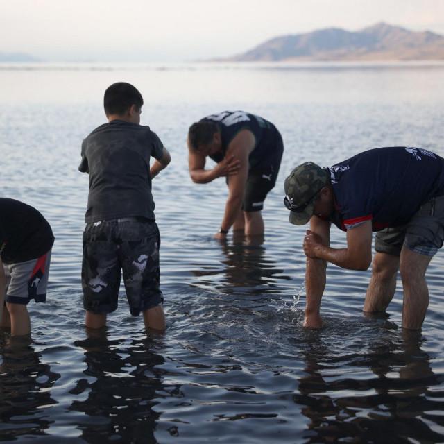 Suša naVelikom slanom jezeru u Utahu
