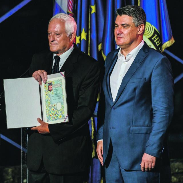 Luka Džanko i Zoran Milanović na prošlogodišnjoj obljetnici Oluje