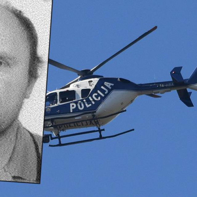 Policijski helikopter i fotografija bjegunca