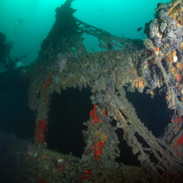 Ronjenje na olupini broda Baron Gautsch