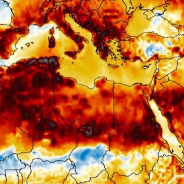 Toplinski val u Europi i na sjeveru Afrike