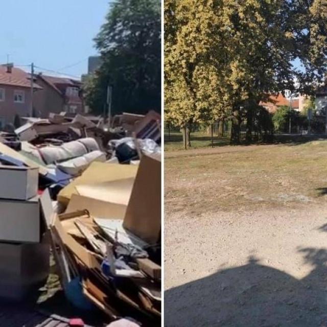 Radnici Čistoće očistili ilegalno odlagalište u Prečkom