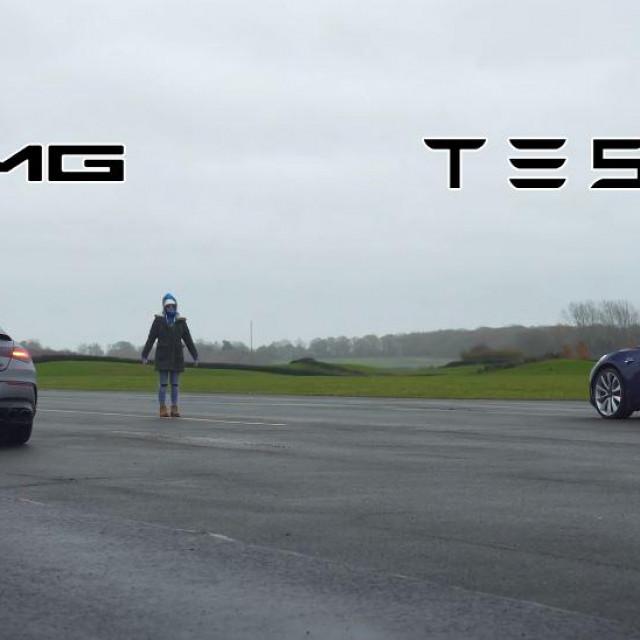 Mercedes CLA 45 AMG i Tesla Model 3 Performance