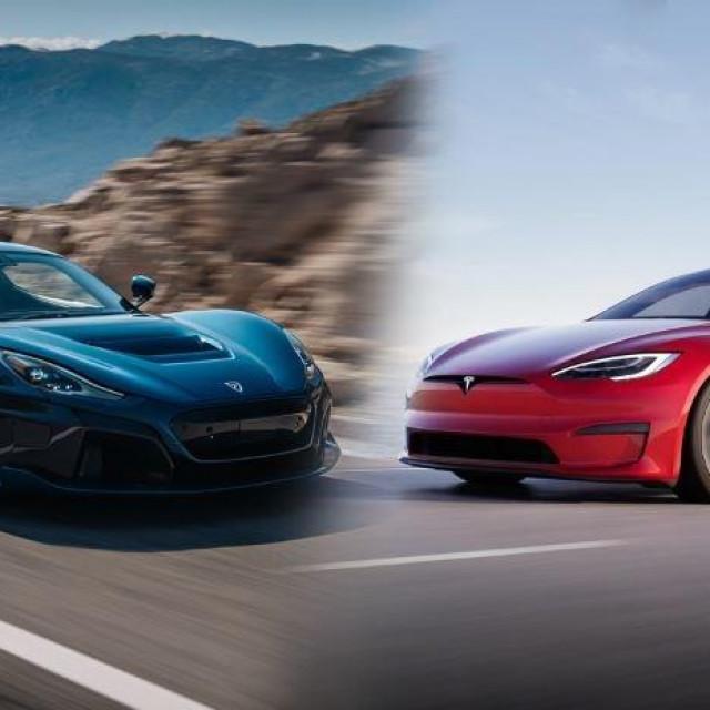 Rimac Nevera i Tesla Model S Plaid