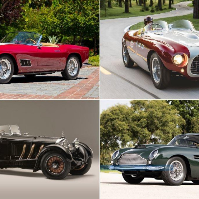 20 najskupljih automobila prodanih na Tjednu automobila u Montereyu 2021