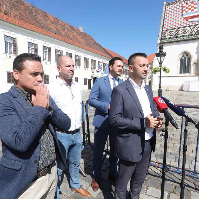 Davorin Karačić, Marko Milanović Litre, Krešimir Kartelo i Marijan Pavliček