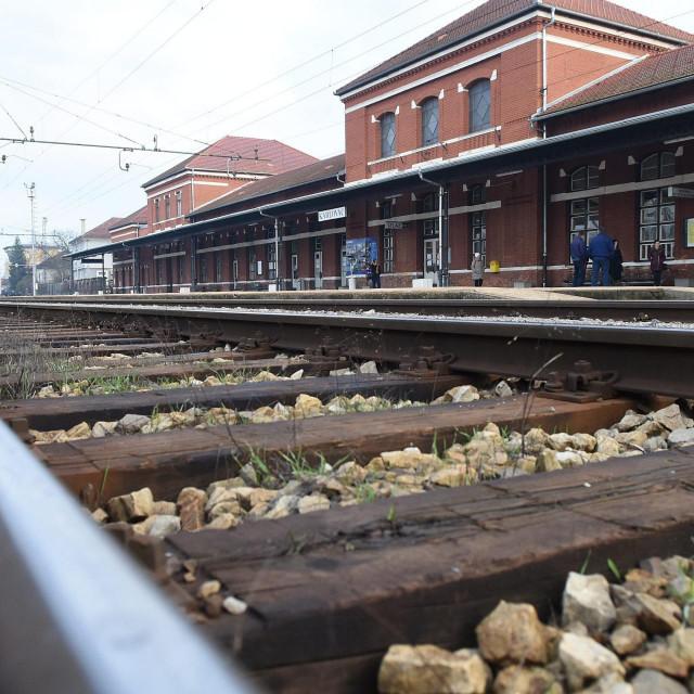 Željeznički kolodvor u Karlovcu, arhivska fotografija