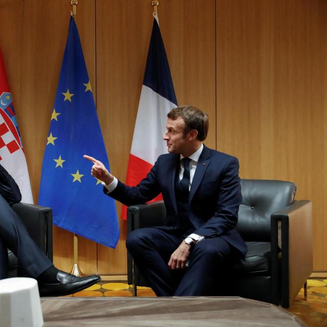 Andrej Plenković i Emmanuel Macron