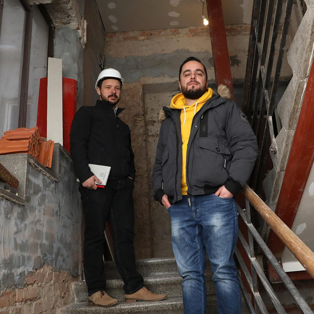 Suvlasnik zgrade Domagoj Mak i inžinjer Robert Gradečki