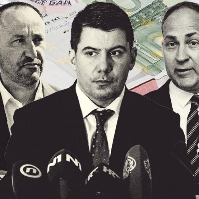 Hrvoje Zekanović, Nikola Grmoja i Stjepo Bartulica