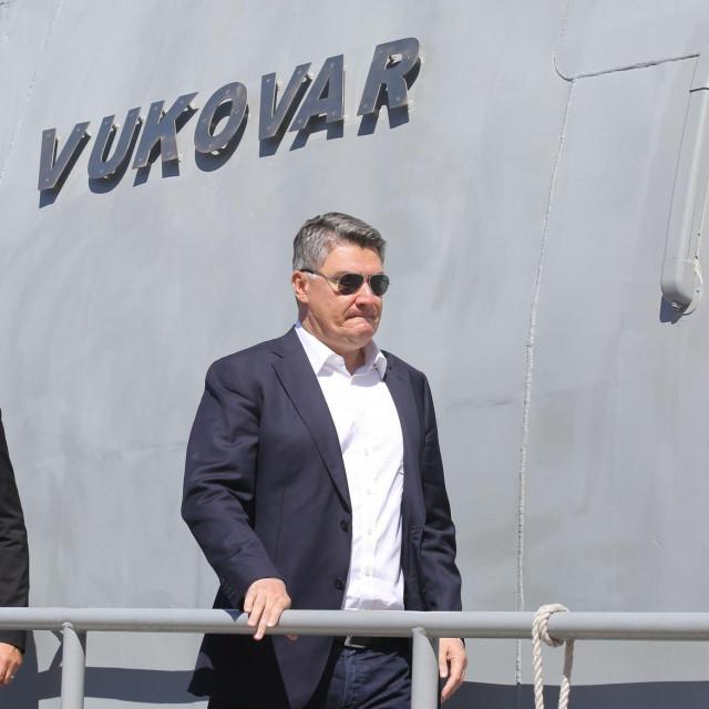 Ministar Mario Banožić i predsjednik Zoran Milanović