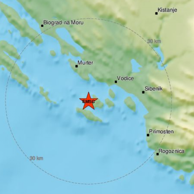 Potres kod Šibenika