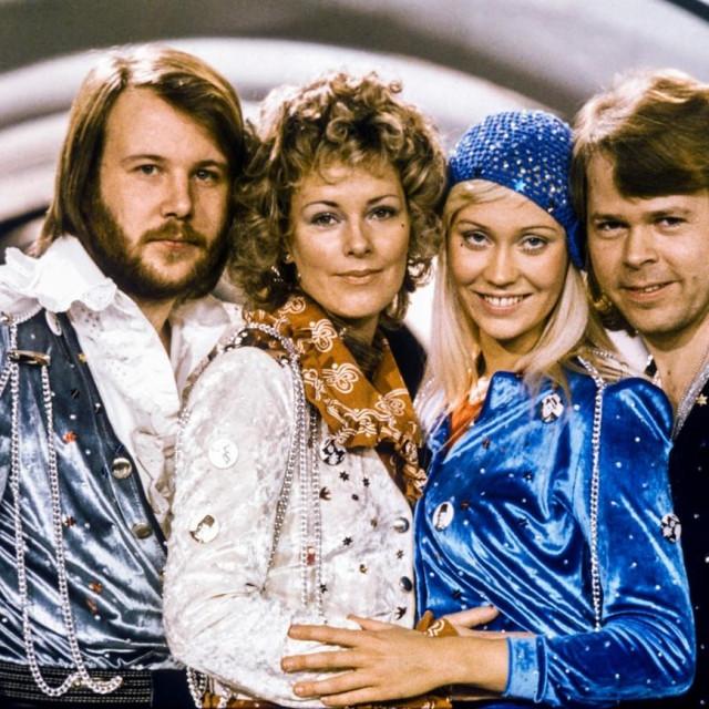 Benny Andersson, Anni-Frid Lyngstad, Agnetha Faltskog i Bjorn Ulvaeu