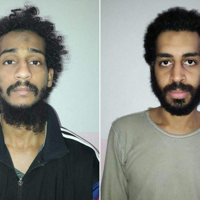 Zarobljeni borci Britanske islamske države (IS) El Shafee el-Sheikh (L) i Alexanda Kotey (D)