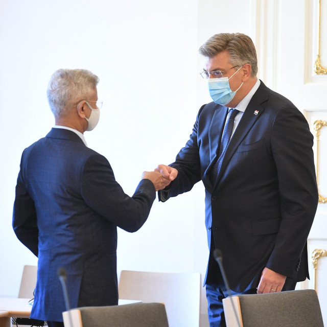 Predsjednik Vlade Andrej Plenković primio je ministra vanjskih poslova Republike Indije Subrahmanyama Jaishankara
