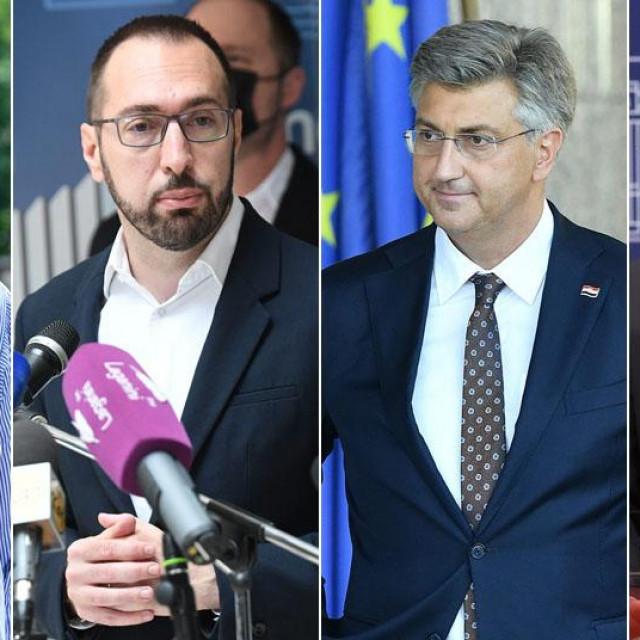 Peđa Grbin, Tomislav Tomašević, Andrej Plenković, Miroslav Škoro