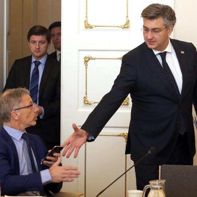 Boris Vujčić, Zdravko Marić, Andrej Plenković.