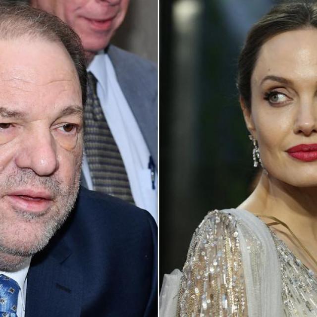 Filmski mogul Harvey Weinstein (lijevo) i glumica Angelina Jolie (desno)