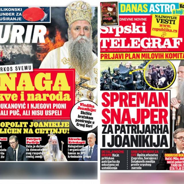 Naslovnice srpskih medija, 6.9.2021.