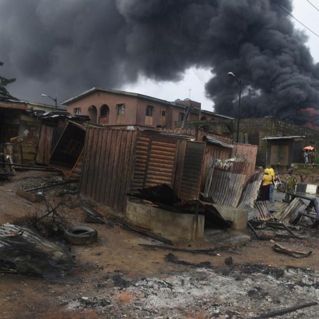 Eksplozija uzrokovana puknućem cijevi za gorivo u Nigeriji