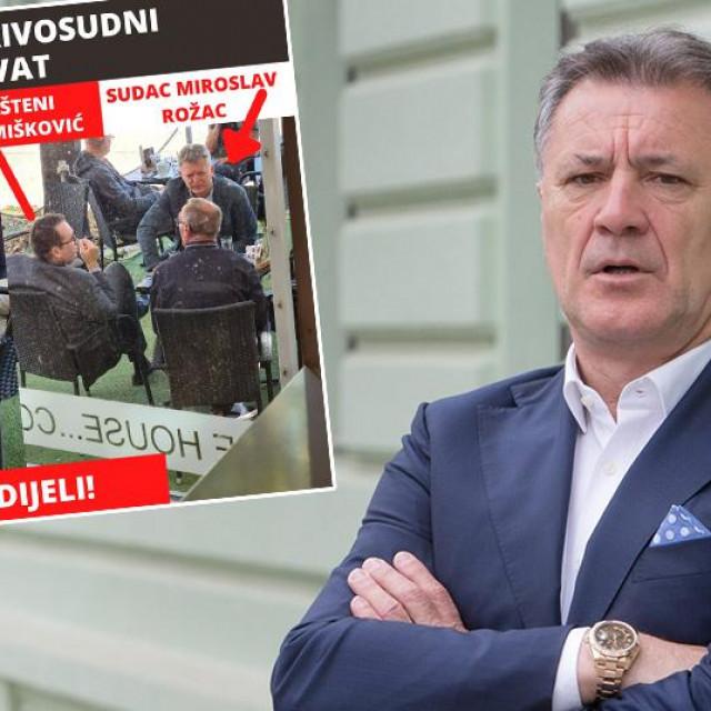 Zdravko Mamić; u pravokutniku: fotografija koju je Mamić objavio na svom Facebook profilu