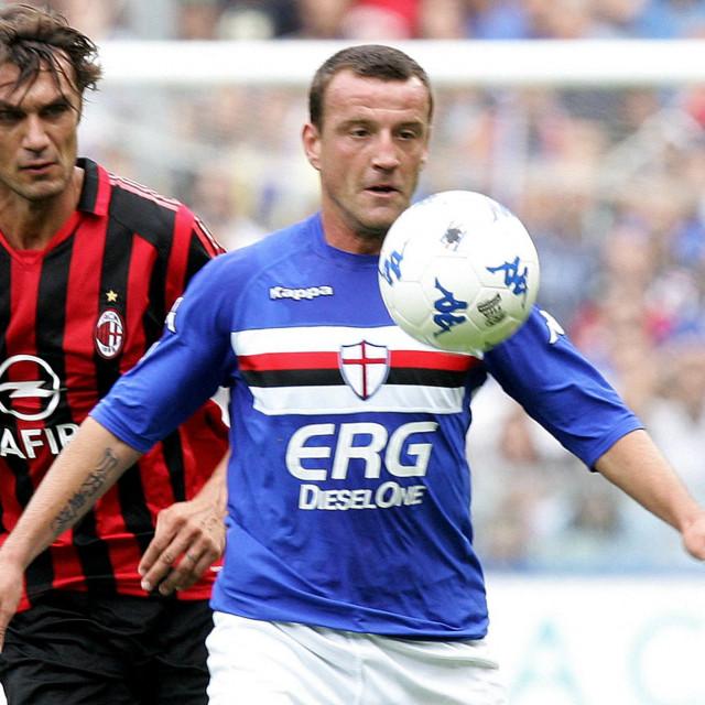 Paolo Maldini i Francesco Flachi (desno)