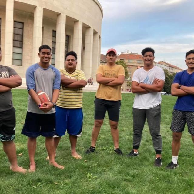Samoanci, misionari igraju ragbi kod Meštrovićevog paviljona