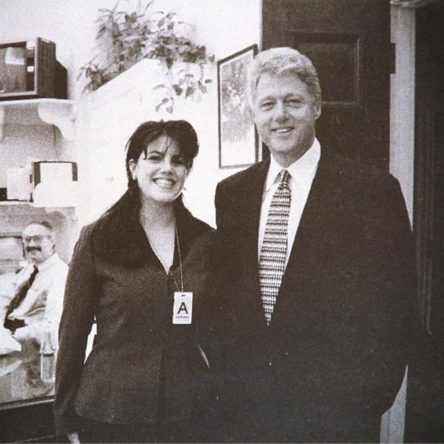 Bill Clinton i Monica Lewinsky u Bijeloj kući za vrijeme tajne afere.