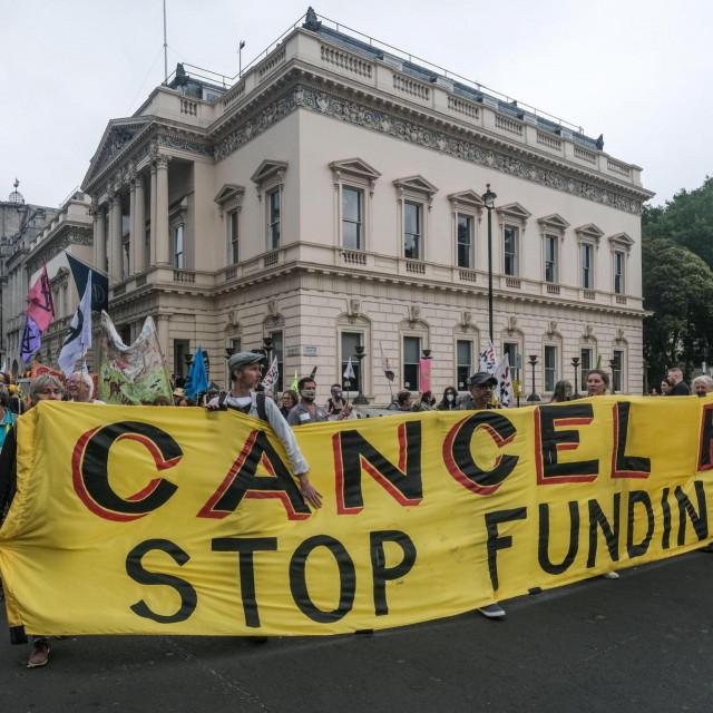 Prosvjedi protiv zagađenja okoliša, London, 2021.