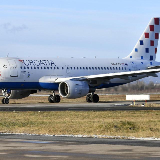 Ilustracija, zrakoplov Airbus A319 Croatia Airlinesa