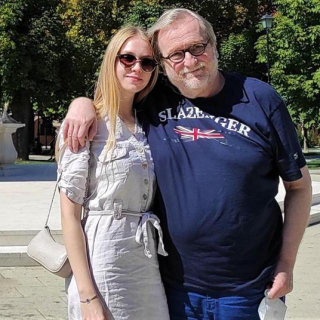 Bogdan Diklić s kćerkom Sofijom koja je ove godine peti put s ocem došla na BOK fest u Bjelovar