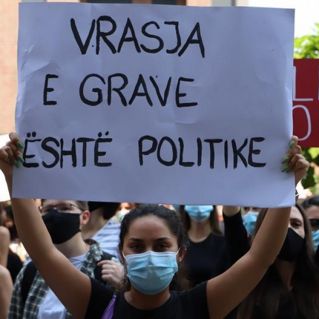 Prosvjed protiv nasilja nad ženama na Kosovu