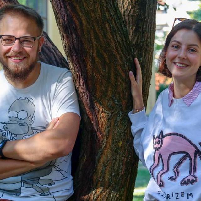 Studenti ALU-a Zdenko Mikša, Petra Divković i Mihael Bađun