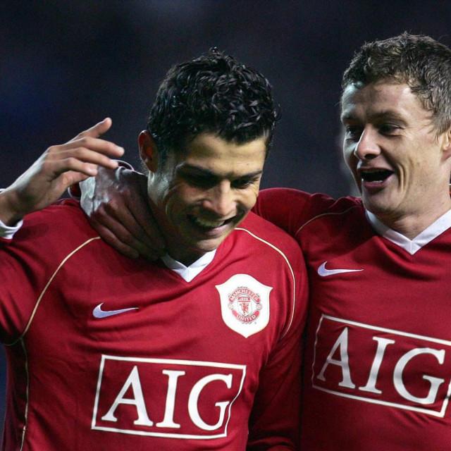 Cristiano Ronaldo i Ole Gunnar Solskjaer bili su nekoć suigrači, sada je Norvežanin trener Portugalcu