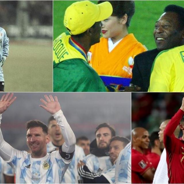 Maradona, Pele, Ronaldo, Messi, C. Ronaldo