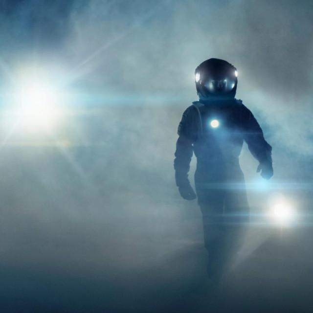 Ilustracija, astronaut/kinja