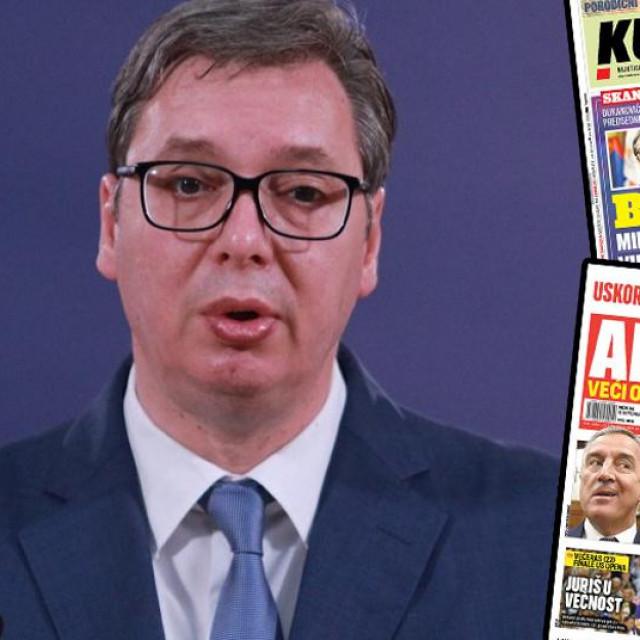 Aleksandar Vučić, naslovnice Kurira i lista Alo!